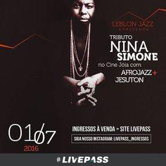 Pré-edição do #festival #Leblon #Jazz traz espetáculo inédito com #Jesuton e #Afrojazz interpretando clássicos da cantora norte-americana #Livepass