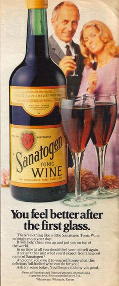 sanatogen - mum and dad went through a craze of drinking this....