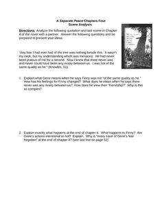 a literary analysis of the friendship between finny and gene in a separate peace A separate peace quotes use these quotes from a separate peace by john knowles to make your teacher think you read the novel or use them when writing an essay, completing a test or doing a literary analysis.