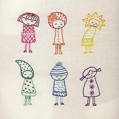 Rainbow Girls by Wendi Gratz | Embroidery Pattern