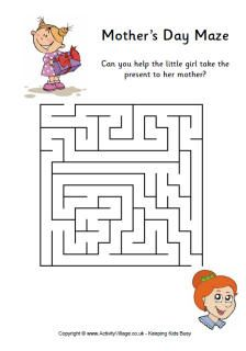 Mothers Day maze, easy