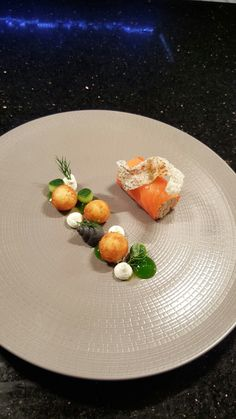 Irish smoked salmon roulade, cream cheese mousse, cucumber, dill