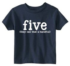Toddler 5th Birthday Shirt SOFT 5 Color Choices by JackOfNone