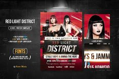 Red Light District - Flyer / Poster by VectorMedia on @creativemarket