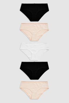 bd29cc391 Buy Cotton Rich Knickers Five Pack from the Next UK online shop
