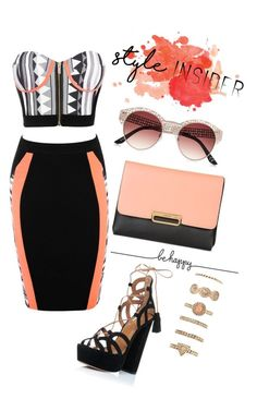 """Pretty orange"" by ririmar ❤ liked on Polyvore featuring Topshop, River Island, Forever 21, contestentry, laceupsandals and PVStyleInsiderContest"