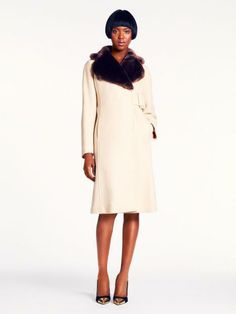 Beautiful coat. Winter white never looked so good! Kate Spade #currentlyobsessed