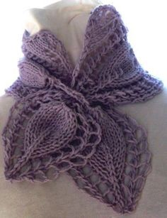 Victorian Rose PDF Hand Knitting Pattern. This Etsy person has beautiful scarf, and shawl patterns for sale.
