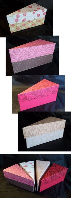 Things to make and do - Cake slice box - great templates here for other boxes too