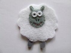 Felt applique Felt sheep lamb animal by MurisAndAJ on Etsy, $1.90