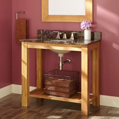 "36"" Acerra Teak Console Vanity for Undermount Sink"