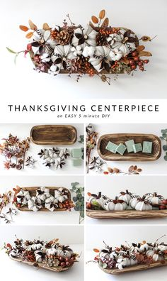 5 Minute DIY Thanksgiving Showstopping Dough Bowl Centerpiece