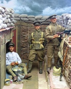 how to make a ww1 trench model