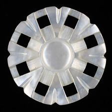 BEAUTIFUL ANTIQUE CARVED PIERCED MOP PEARL SHELL BUTTON Shank Style