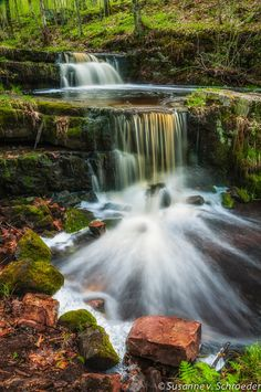 Nature Photography Waterfall in Forest by SoulCenteredPhotoart, $22.00