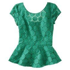 peplum lace blouse  Target?