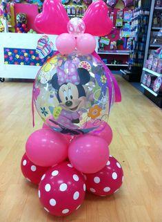 CUTE favors at a Vintage Pony Party Soiree via Kara's Party Ideas Balloon Arrangements, Balloon Centerpieces, Balloon Decorations Party, Minnie Birthday, Birthday Balloons, Diy Birthday, Balloon Display, Balloon Gift, Minnie Mouse Balloons