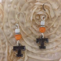 Licensed Collegiate Earrings  Tennessee by AnnPedenJewelry on Etsy, $14.99