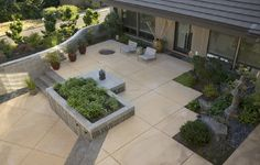Stained And Scored Concrete Patio Ideas With Aggregate Steps ~ http://lanewstalk.com/various-options-of-concrete-patio-designs/