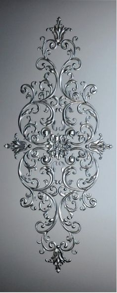 """~I want this as a wall headboard for my bed with tons of coordinating pillows"", ""Discover thousands of images about"" Motif Arabesque, Stencils, Glue Art, Diy And Crafts, Arts And Crafts, Plaster Art, Motif Floral, Ceiling Design, Glass Design"
