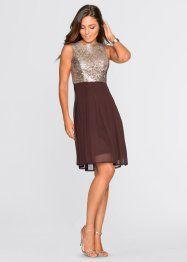 Zum Ausgehen und für festliche Anlässe ist dieses Kleid der Marke BODYFLIRT eine gute Wahl. Das mit Pailletten geschmückte Oberteil macht das kurze Kleid zu einem wunderschönen Blickfang und verleiht dem Modell eine glamouröse Note.
