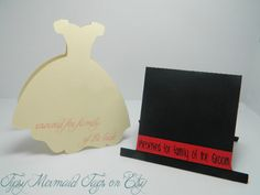 Custom Wedding Table Place Cards, You Choose Colors - Wedding Dress & Tophat on Etsy, $12.00