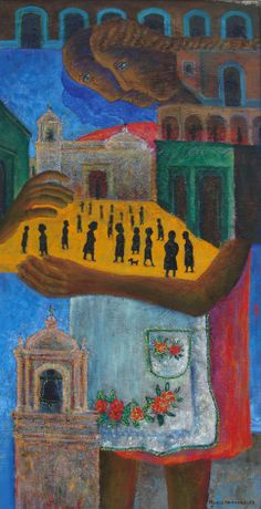 """""""Abrazando al pueblo"""" by Rodolfo Morales"""