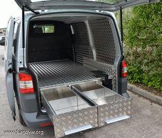 Vw T5 Interior, Campervan Interior, Van Storage, Camper Storage, Vw Transporter Van, Van Organization, Pool Diy, Accessoires 4x4, Car Wash Business