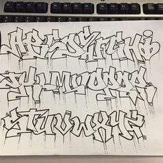 Graffiti Lettering Alphabet, Graffiti Writing, Tattoo Lettering Fonts, Doodle Lettering, Creative Lettering, Grafitti Alphabet, Graffiti Letters Styles, Chicano Tattoos Lettering, Doodle Fonts