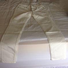 paper denim & cloth// jeans white// crop// skinny jeans// style:ankle 5 skinny Paper Denim & Cloth Jeans