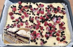 Krakovský ovocný koláč s krehkou penou | NajRecept.sk Dessert Bars, Dessert Recipes, Sweet Recipes, Yummy Treats, Tiramisu, Cheesecake, Deserts, Food And Drink, Cooking Recipes