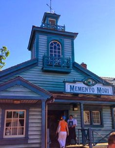 """A look at some of the """"interesting"""" merchandise available at Magic Kingdom's new Memento Mori  shop 