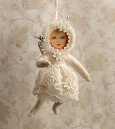 Cotton Sprite Ivory Sprite Pearl by PlumPuppets on Etsy, $25.00