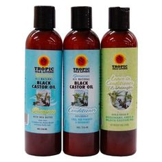 Tropic Isle Living Jamaican Black Castor Oil Hair Care 3 PC Combo Set