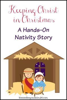 FREE Printable Hands-on Nativity Story -Keeping Christ in Christmas 0 Shares Childrens Christmas, Preschool Christmas, Christmas Nativity, Christmas Crafts For Kids, Christmas Activities, A Christmas Story, Christmas Holidays, Christmas Skits, Christmas Plays