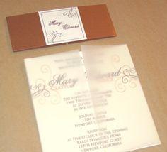 Swirl Bouquet Vellum Invitation. $3.99, via Etsy.