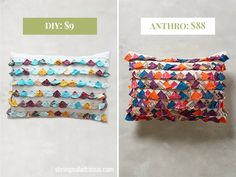 For less than ten bucks, you can DIY your own version of the $88 Jacare Tassel Pillow from Anthropologie. It's a perfect project for total sewing beginners.