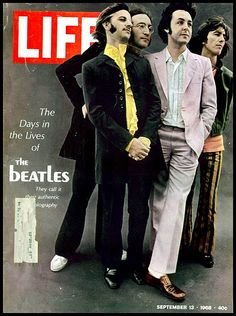 """The Beatles on the cover of """"LIFE"""" magazine issued September 13, 1968"""