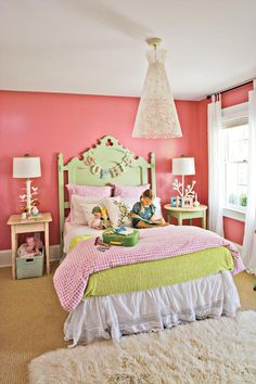 Vintage Furniture Finds - Style Guide: Kids' Rooms and Nurseries - Southernliving. Add whimsy to vintage furniture with a coat of paint in a kid-friendly color.