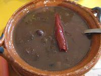 Mexico (D.F.)   Frijoles de Olla. El Huequito Restaurant, Mexico City.
