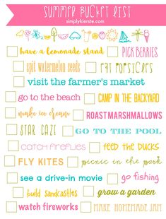 This adorable Summer Bucket List Printable is the perfect way to look forward to fun summer activities, and as summer decor too! Free printable!