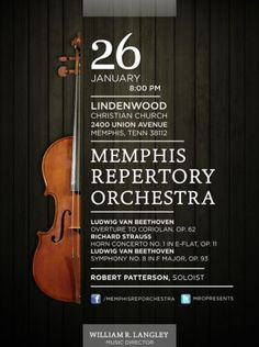 Memphis Repertory Orchestra Poster