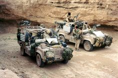 SAS Landrover, variously carrying, SA80's AR15's, M2's, M19 Grenade Launcher, GPMG, Milan, Javelin, and 4 SAS soldiers. Firepower per ton, very high.