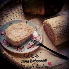 Kit Wai's kitchen : 芋泥蛋糕卷~ Yam Swiss Roll