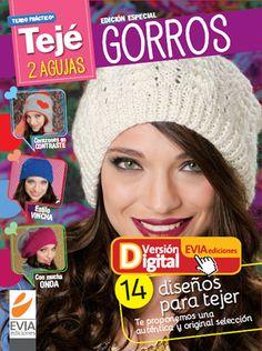 Tejé Dos agujas #Gorros. Descarga ya la revista completa en www.eviadigital.com y a tejer se ha dicho!!
