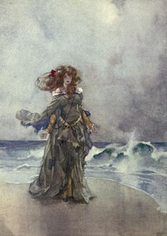 'Ruddigore - or The witch's curse' by W. S. Gilbert. With colored illustrations by William Russell Flint. Published 1912 by George Bell & Sons Ltd., London.