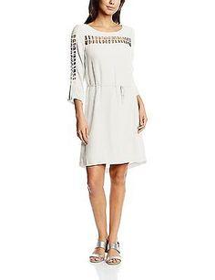 10, Off-White - Écru, Morgan Women's 161-ribs.p 3/4 Sleeve Dress NEW