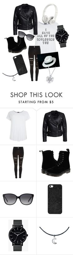 """""""cool and awesome"""" by winternightfrostbite ❤ liked on Polyvore featuring Sisters Point, River Island, Dr. Martens, Beats by Dr. Dre, Michael Kors, BaubleBar, The Horse and Bling Jewelry"""