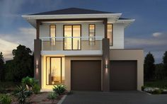 Metricon Home Designs: The Cedar - Resort Facade. Visit www.localbuilders.com.au/builders_nsw.htm to find your ideal home design in New South Wales