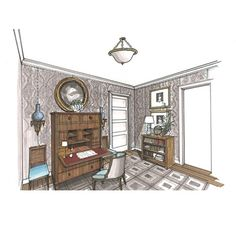 Interior Designer Sketches sketchbook | michael hampton design | interior design sketches